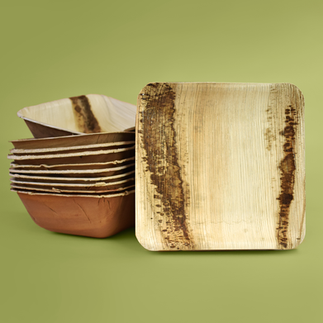 Palm Leaf Tableware (Plates and Bowls)