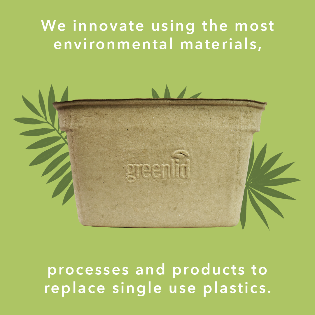 Greenlid Compostable bin with some facts