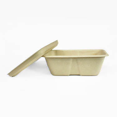 Compostable fibre food plate with cover