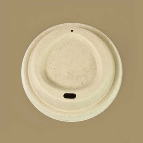 Compostable Plant Fiber Coffee Cup Lids