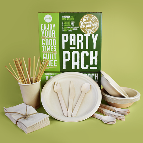 Greenlid 12 Person Compostable Party Pack