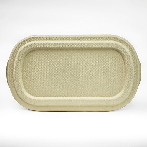 Fiber Lids for Oval Take Out Container