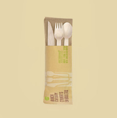 Individually Wrapped Birch Cutlery Set (2 x 250 Dispenser)