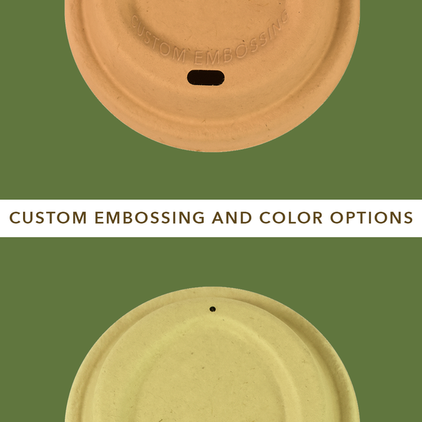 Customizable and compostable  drinking cups with color options