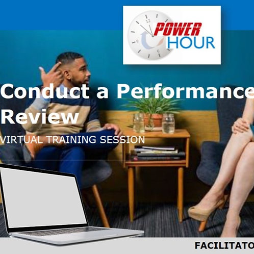Conduct a Performance Review - Virtual Session