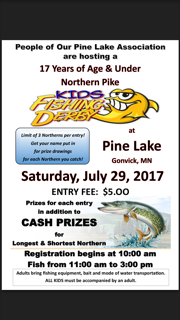 Kids fishing derby - 2017