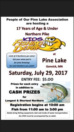 Kids fishing derby - 2017