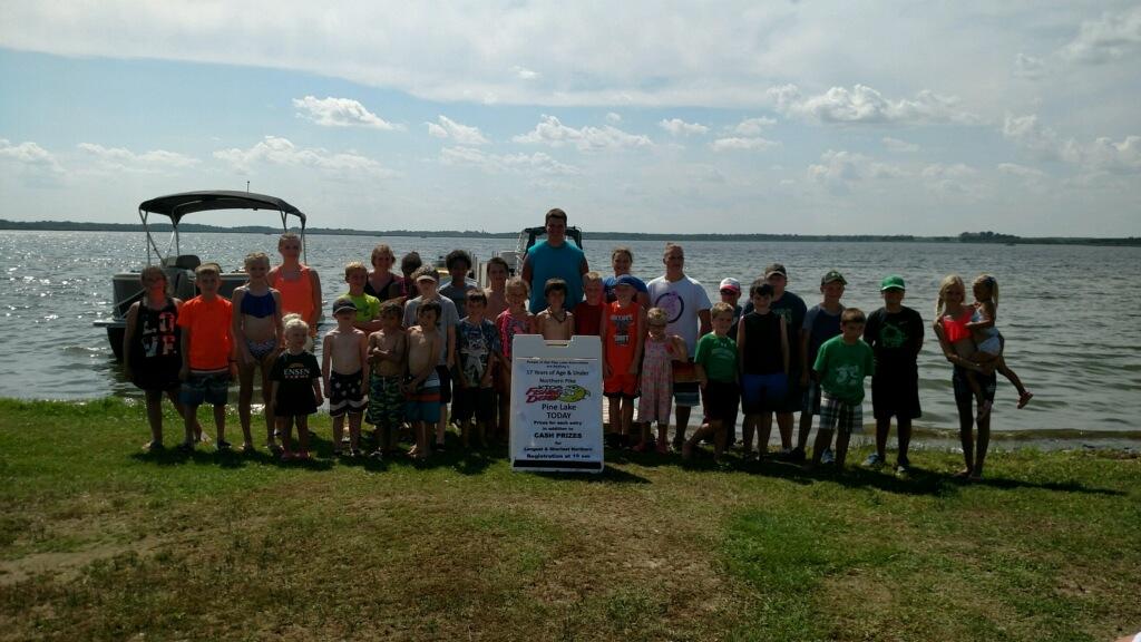 Fishing derby participants