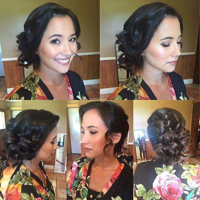 Bridesmaid makeup and hairstyle by moi! _mercedesleebeauty team #bridalupdo #bridalmakeup #bridesmak