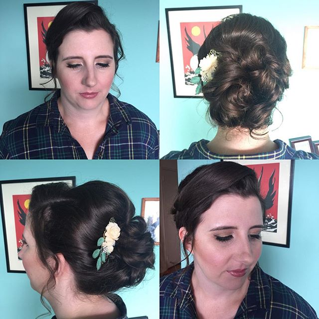 Bride's hair and makeup by kay _lushbeautyandbridals #anastasiabrows !  #bridalupdo #gtastylist_#gta