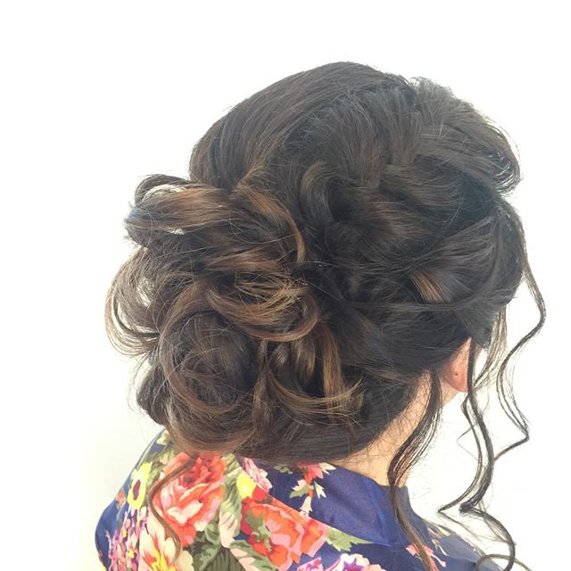 Hairstyle by me for _ford_beauty  #bridalupdo #gtastylist #muakay #gtamobilemakeup #bridalupdo #gtas