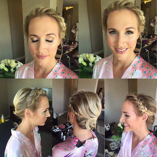 Love the braid for this bridesmaid, makeup and hair by Kay for _mercedesleebeauty  #bridalupdo #brid