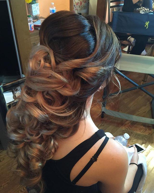 Bride's hair by kay _lushbeautyandbridals #anastasiabrows !  #bridalupdo #gtastylist_#gtamakeupartis
