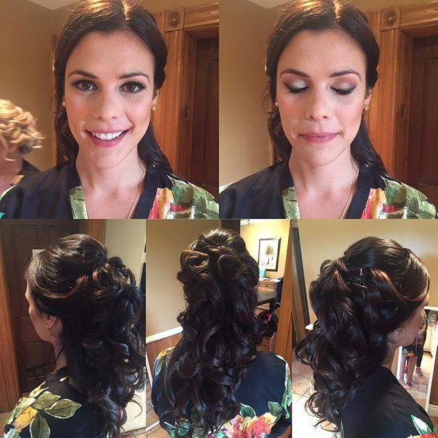 Bridesmaid's hairstyle and makeup by Kay, _mecedesleebeauty team! bridalupdo #bridalmakeup #bridesma