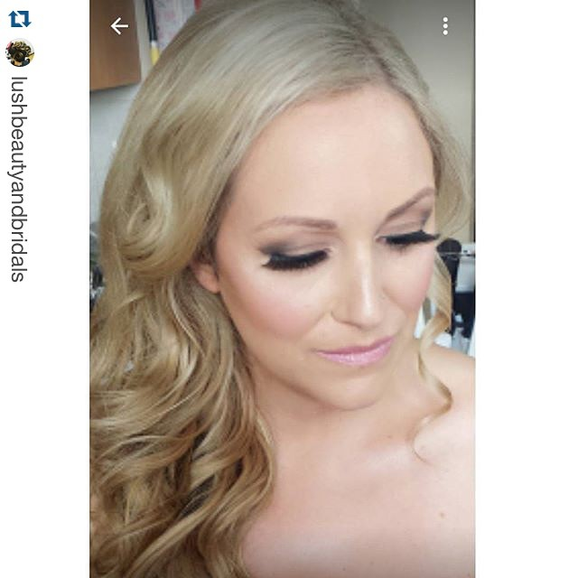 MY bride from last weekend, airbrush makeup and hairstyle by moi #Repost _lushbeautyandbridals with