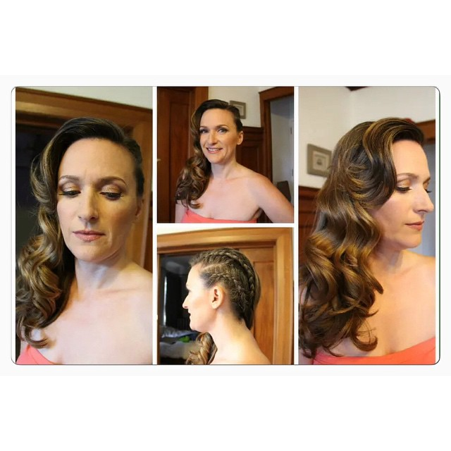 Love how this look turn out! Makeup and hair by me!#makeupartist #brides #curlhair #glamours #natura