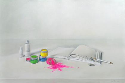 Powder (Pudra), canvas, oil, powder, 120x80cm, 2021.jpg