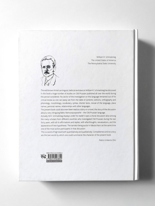 "Book ""Studies in Old Prussian"" (W. R. Schmalstieg)"
