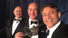 For Blue Origin, Jeff Bezos gets Heinlein Prize and a sword – then gives away $250K