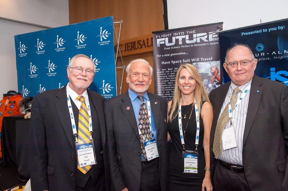 From left to right: Buckner Hightower, 'Buzz' Aldrin, Anat Friedman and Art Dula.