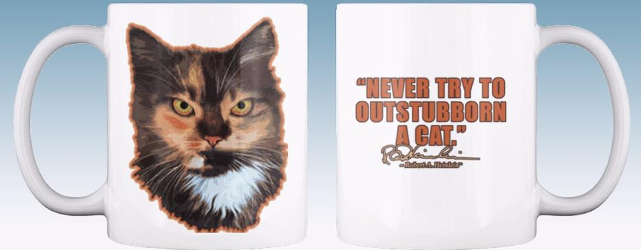 Heinlein Cat Mug