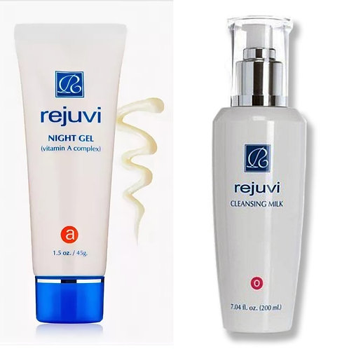 a Night Gel+o Cleansing Milk/a Yögeeli+o Puhdistusmaito