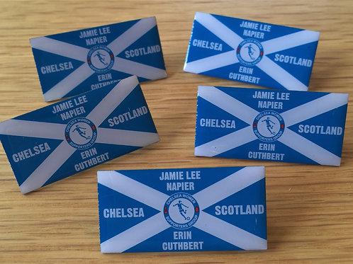Chelsea / Scotland metal pin badge