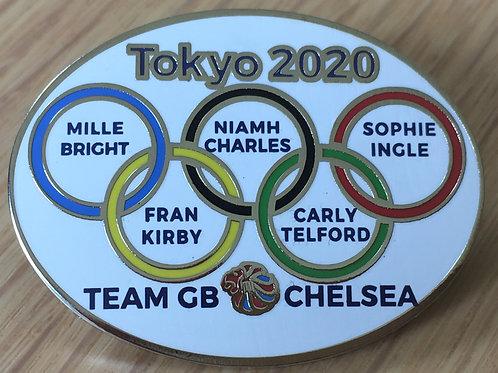 Team GB / Chelsea Women Tokyo 2020 METAL BADGE