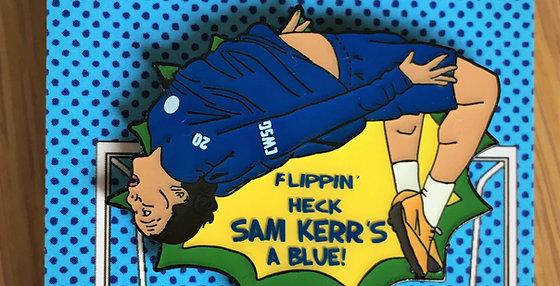SAM KERR FLIPPING HECK BADGES & STICKERS SET