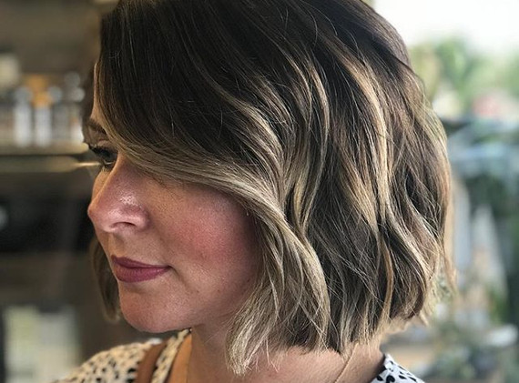 Blunt bobs and balayage 🙌💜 #hairbytsch
