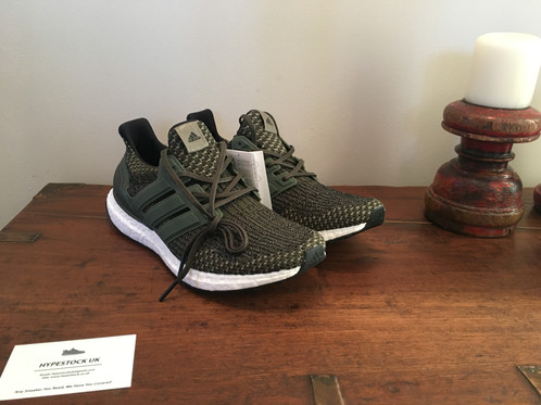 Adidas Ultra Boost 3.0 Olive Gum Sole Size 13. S80637