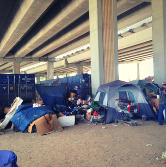 """Most of us rarely take time to stop and have a conversation with someone who is homeless. We often have ill-informed pressupositions and can contribute to their hurt in our attempts to help. We take groups down to """"tent city"""" to talk to the homeless, with no agenda but to be present in their world for a few hours."""