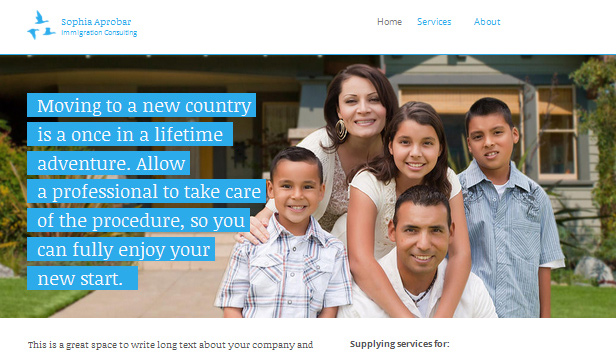 Community website templates – Immigration Consultant