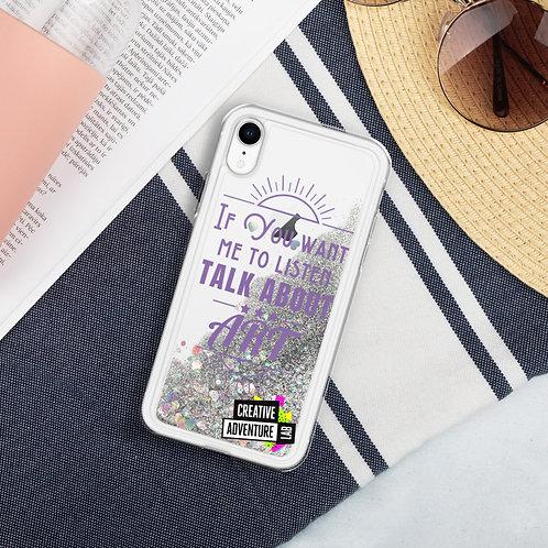 Art iPhone Case (purple)