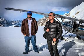 UFO Hunter James Fox on top of glacier (
