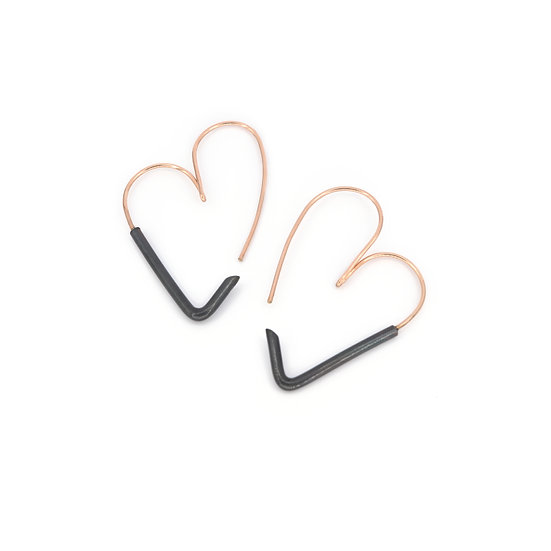 Statement Heart Hoop Earrings