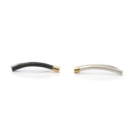 Silver and Gold Ear Climbers - Single