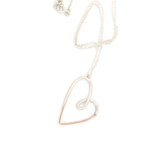 Doodle Heart Pendant