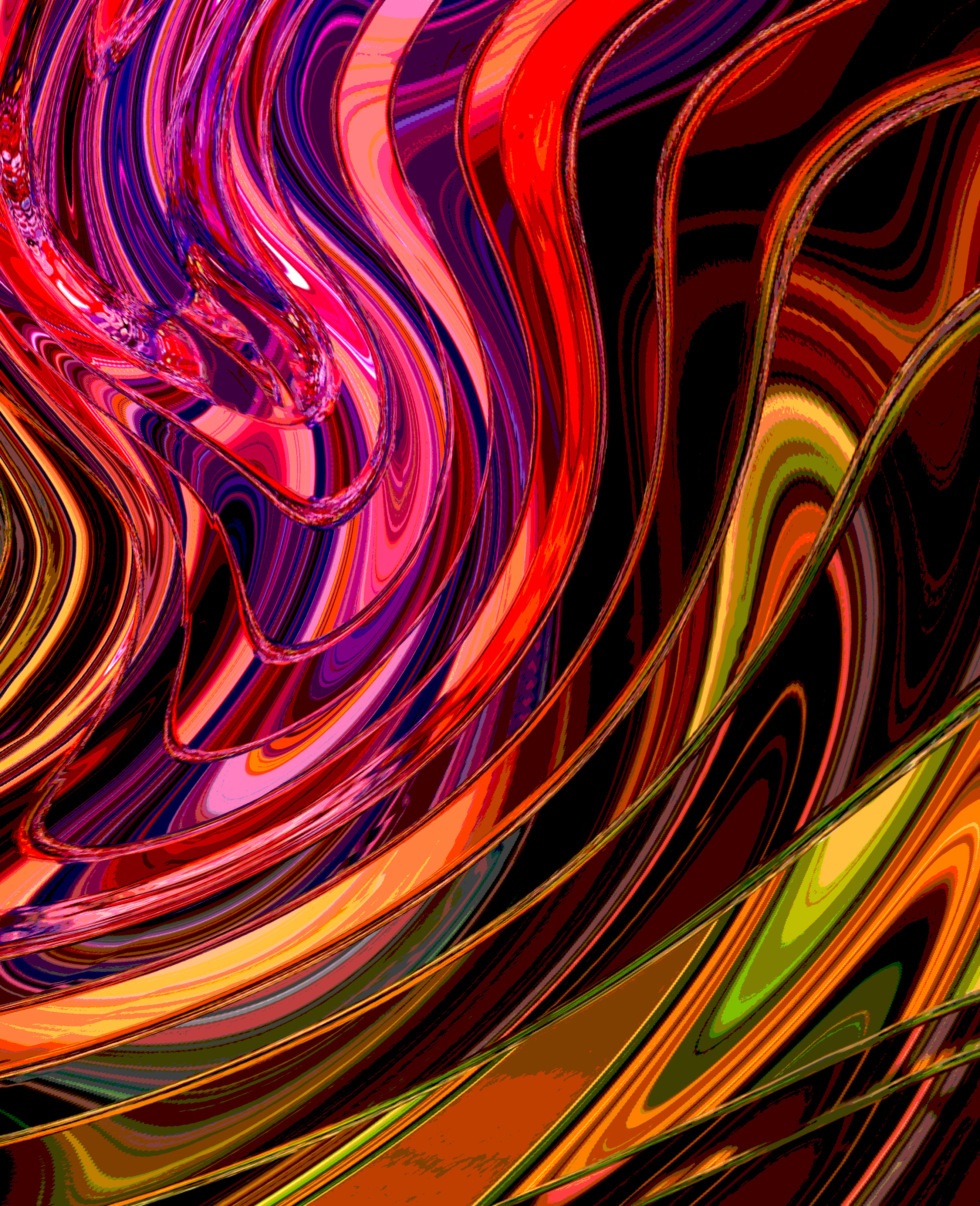 tango cascade print