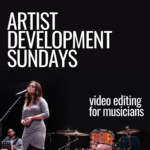 April 4 {video editing for musicians}