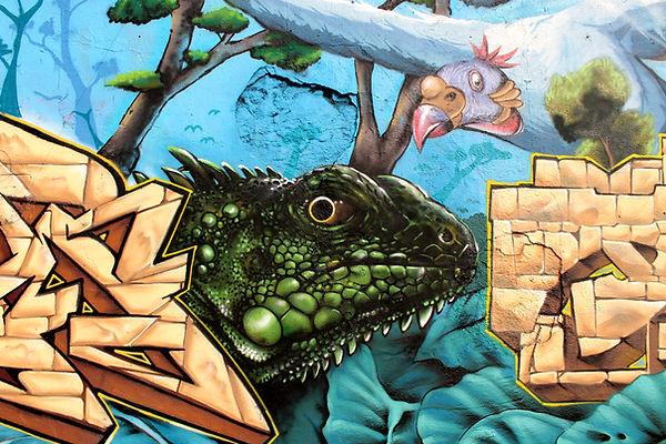 Iguane Graffiti Chipie Maya