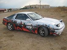 Toyota Supra décoration Graffiti Dodo