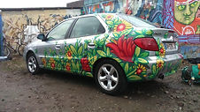 Décoration fresque véhicule Dodo Graffiti Lyon