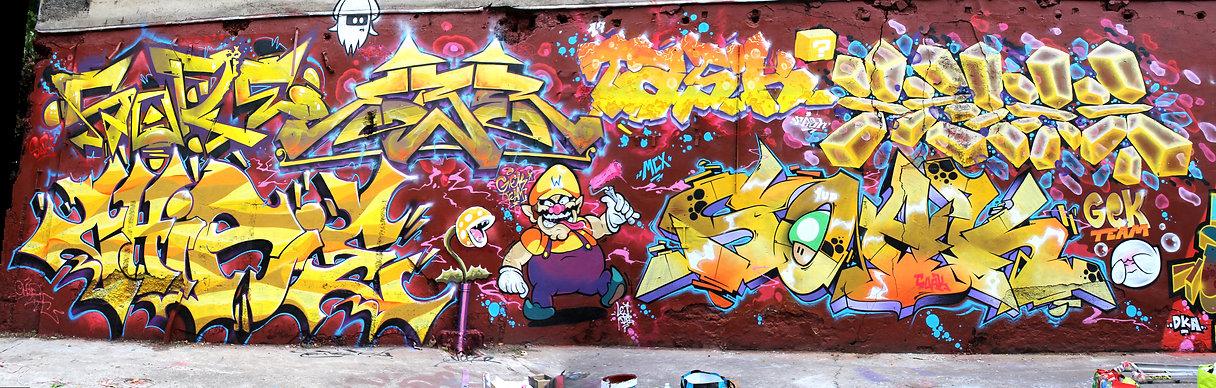 Mix City Graffiti Lyon Sainté GEK Team
