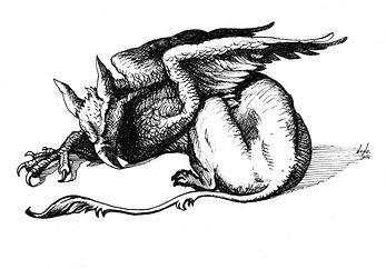 Griffon Dodo illustration drawing dessin Lyon