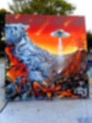 Graffiti de dorian roulet aka chipie à l'occasion du premier HIP-HOP series à Nimes Nîmes (30) team les Ratz un evenement organisé par da storm thême le temps graffiti rhône-alpes Rhône-Alpes team saint-etienne lyon Graffiti spectacle Battle Hip hop tout simlement hip hop