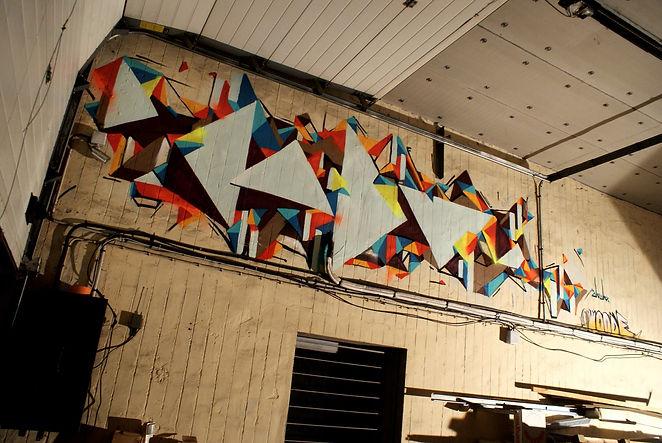 Dodo Graffiti Lyon triangle déco graff
