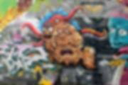 rick sanchez en graffiti les savants fous par la gek team à sant-etienne