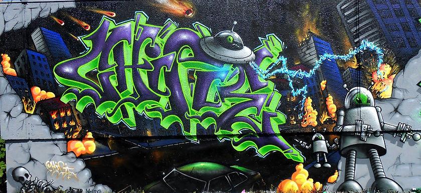 Chipie Invasion Fresque Graffiti Sainté Gek Team