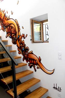 abstraction descente d'escalier